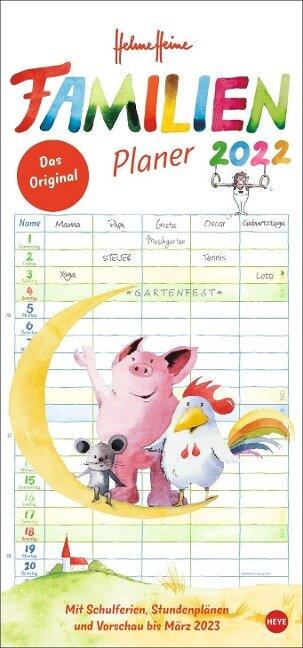 Helme Heine Familienplaner - Kalender 2022 -