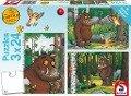 Der Grüffelo: Mein Freund der Grüffelo. 3 x 24 Teile Puzzle -