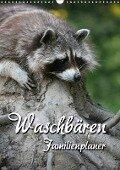 Waschbären Familienplaner (Wandkalender 2018 DIN A3 hoch) - Martina Berg