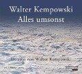 Alles umsonst - Walter Kempowski