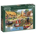 A Busy Time on the Canal - Puzzle 1000 Teile -
