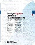 Verlagsratgeber Lektorat: Registererstellung - Walter Greulich