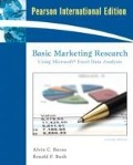 Basic Marketing Research Using Microsoft Excel Data Analysis - Alvin C. Burns, Ronald F. Bush