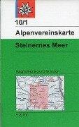 DAV Alpenvereinskarte 10/1 S Steinernes Meer 1 : 25 000 Wegmarkierungen und Skirouten -