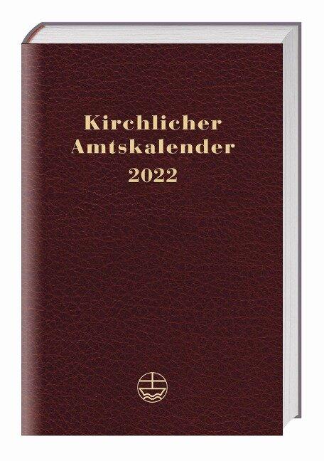 Kirchlicher Amtskalender 2022 - rot -