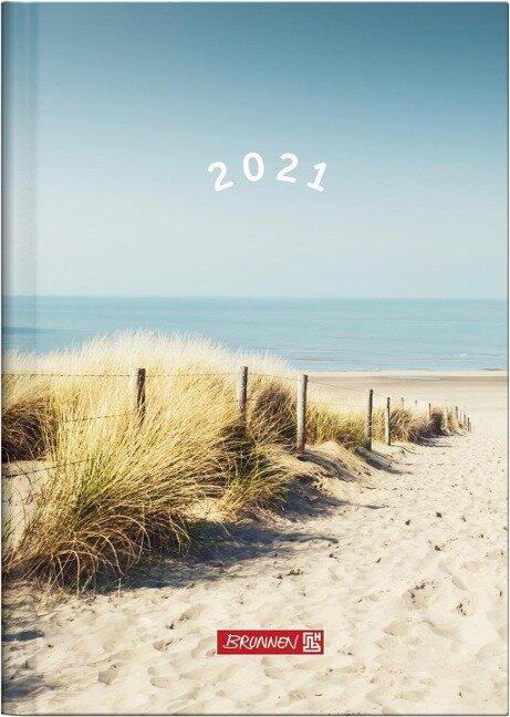 "BRUNNEN 1079615021 Wochenkalender/Buchkalender 2021 Modell 796 ""Strand"" -"