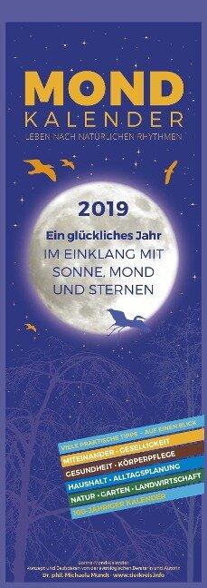 Mondkalender 2019 - Streifenkalender - Michaela Mundt