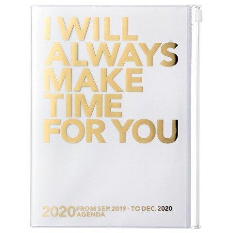 MARK'S 2020 Taschenkalender A5 vertikal, MAKE TIME Gold -