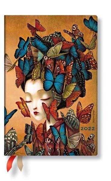 Madame Butterfly 12-Monatskalender Flexi 2022 Mini Horizontal -