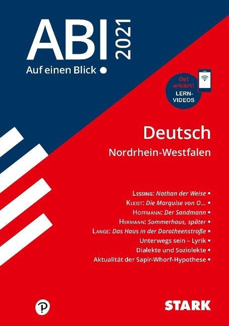 STARK Abi - auf einen Blick! Deutsch NRW 2021 -