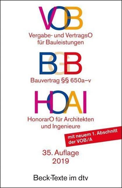 VOB / BGB Bauvertrag / HOAI -