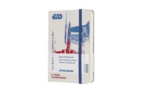 Moleskine 12 Monate Tageskalender - Star Wars 2020 Pocket/A6, 1 Tag = 1 Seite, Fester Einband, Xwing -