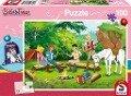 Bibi und Tina, 100 Teile - Kinderpuzzle mit Turnbeutel -