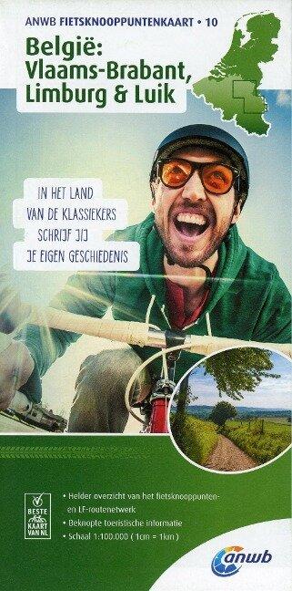 Knotenpunktkarte 10 Belgie: Vlaams-Brabant, Limburg 1:100 000 -