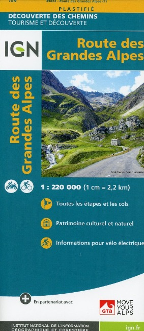 Route des Grandes Alpes 1 : 220.000 -