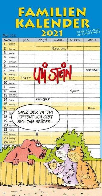 Uli Stein - Familienkalender 2021: Familienplaner mit 5 Spalten - Uli Stein