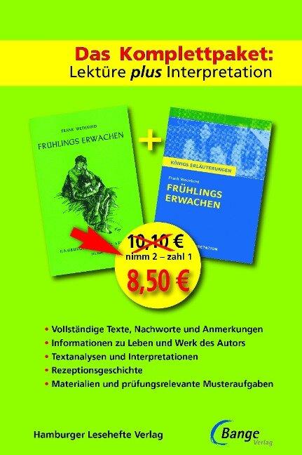Frühlings Erwachen - Das Abi-Komplettpaket: Lektüre plus Interpretation - Frank Wedekind