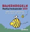 Bauernregeln 2019 Postkartenkalender -
