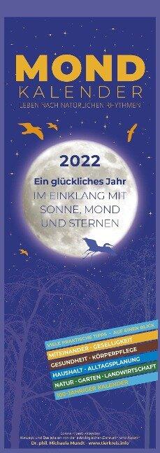 Mondkalender 2022 - Streifen-Kalender 15x42 cm - Michaela Mundt