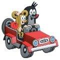 3D-Magnet Der kleine Maulwurf rotes Auto Maus -