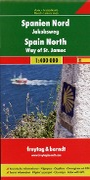 Spanien - Jakobsweg, Autokarte 1:400.000 -