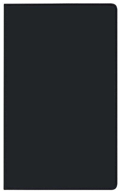 Taschenkalender Pluto geheftet PVC schwarz 2022 -