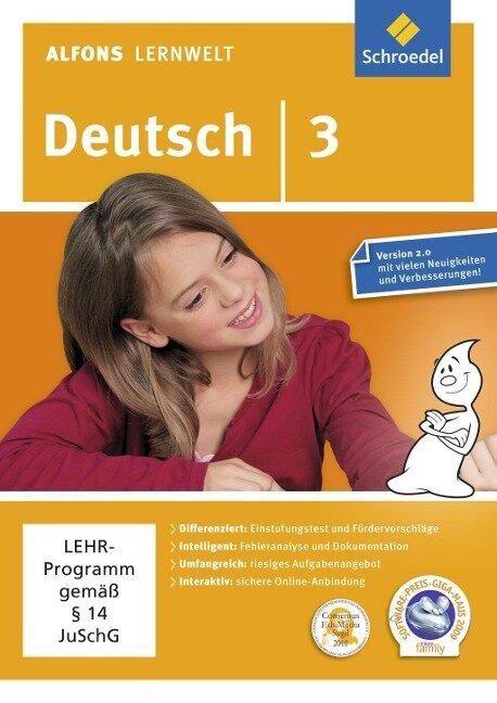Alfons Lernwelt Lernsoftware Deutsch 3 -