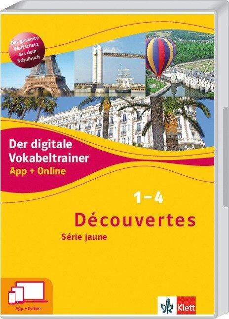Découvertes 1-4 Série jaune. Der digitale Vokabeltrainer. App + Online -