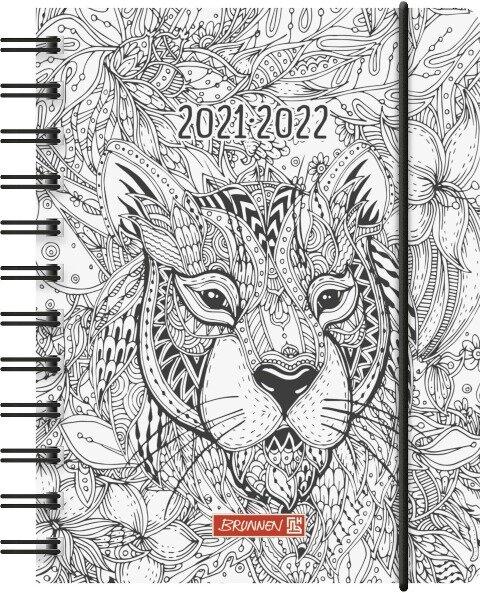 "BRUNNEN 1071750191 Tageskalender/Schülerkalender 2021/2022 ""ZENart"" -"