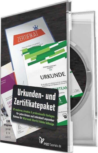 Großes Urkunden- und Zertifikatepaket - Anna Demianenko, Dennis Kovarik, Matthias Petri, Stefan Riedl, Sascha Rudolph