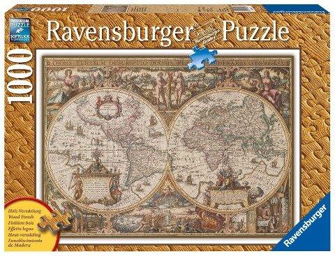 Antike Weltkarte. Puzzle 1000 Teile -