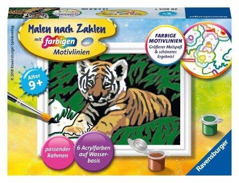 Malen nach Zahlen Süßer Tiger -