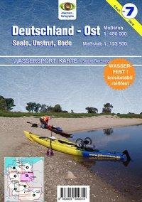 Wassersport-Karte / Deutschland Ost für Kanu- und Rudersport 1 : 125 000 - Erhard Jübermann