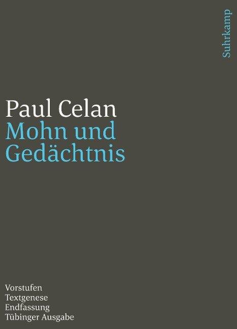 Werke. Tübinger Ausgabe - Paul Celan