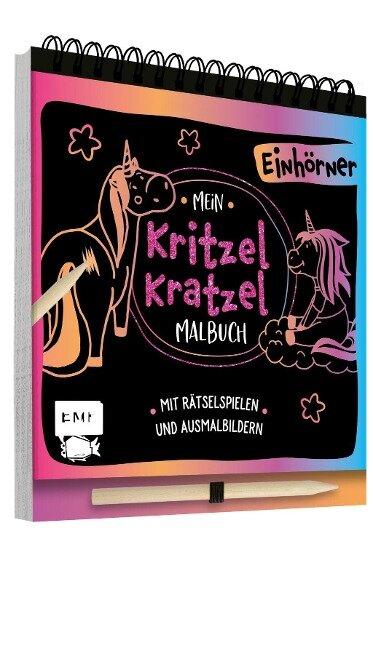 Mein Kritzel-Kratzel-Malbuch - Einhörner -