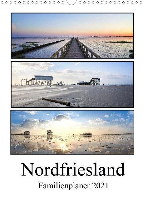 Nordfriesland - Familienplaner (Wandkalender 2021 DIN A3 hoch) - Franziska Hoppe