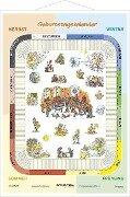 Geburtstagskalender - Lernposter mit Metallbeleistung -