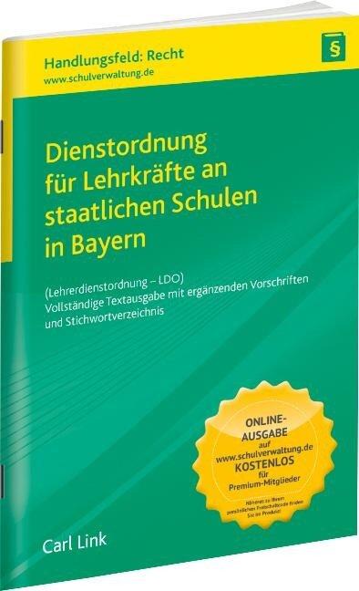 Dienstordnung für Lehrkräfte an staatlichen Schulen in Bayern -