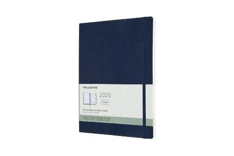 Moleskine 12 Monate Wochen Notizkalender 2020 XL, 1 Wo = 1 Seite, Liniert, Weicher Einband, Saphir -