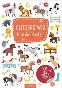 Glitzerspaß Pferde-Sticker -