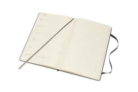 Moleskine 12 Monate Wochen Notizkalender 2020 Large/A5, 1 Wo = 1 Seite, Liniert, Fester Einband, Schwarz -