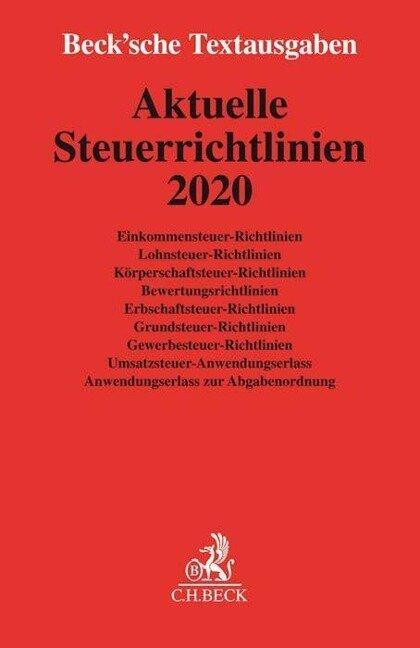 Aktuelle Steuerrichtlinien 2020 -
