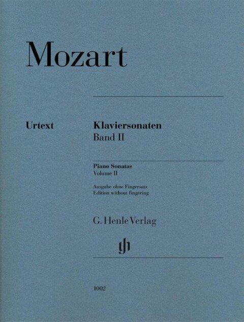 Klaviersonaten 2 br., Urtext - Wolfgang Amadeus Mozart