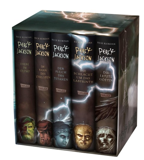 Percy Jackson: Percy-Jackson-Schuber 5 Bände - inkl. E-Book Kane-Chroniken Bd. 1 - Rick Riordan