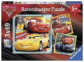 Disney Cars: Bunte Flitzer. Puzzle 3 x 49 Teile -