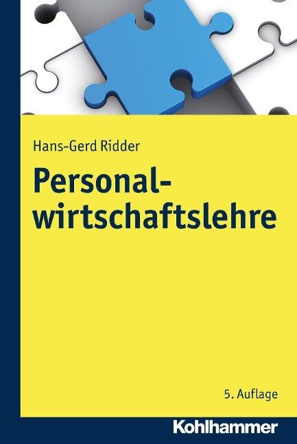 Personalwirtschaftslehre - Hans-Gerd Ridder