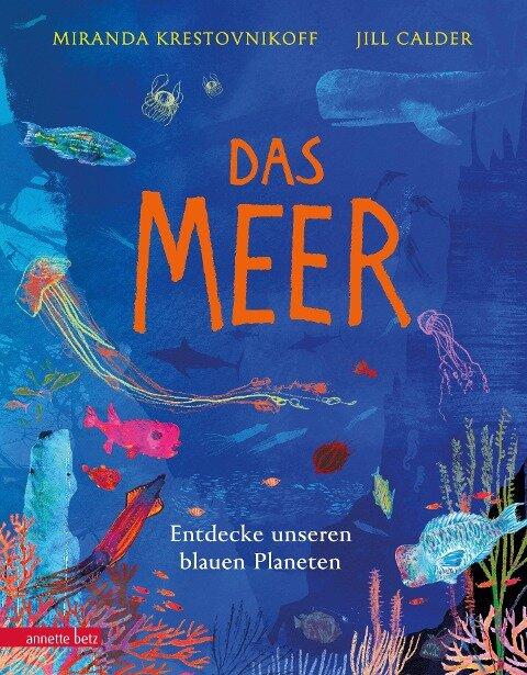 Das Meer - Wichtige Themen: Artenvielfalt und Naturschutz in einem extragroßen Buch mit Neonfarbe auf dem Cover