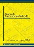 Advances in Experimental Mechanics VIII -