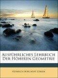 Ausführliches Lehrbuch Der Höheren Geometrie - Heinrich Borchert Lübsen