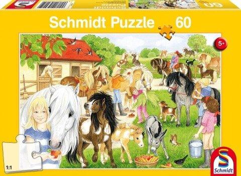 Spaß auf dem Ponyhof, 60 Teile Puzzle -